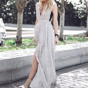 Glam L'Agence maxi dress as seen on Happily Grey!